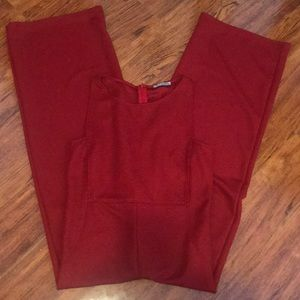 Zara collection Red JumpSuit